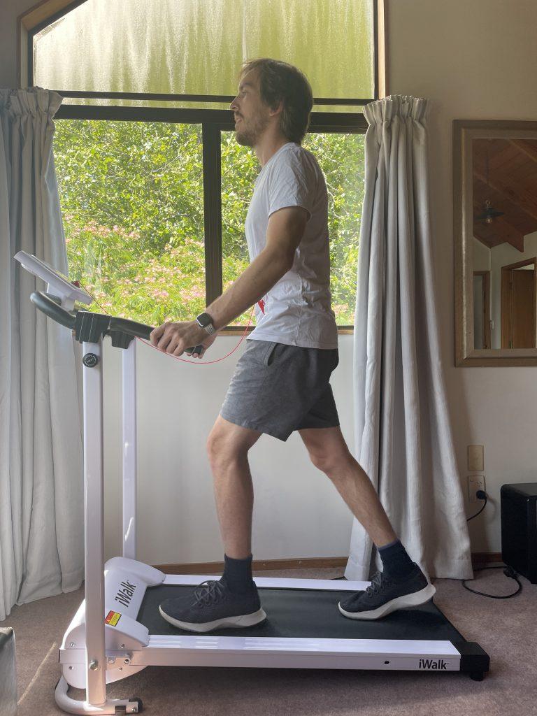 iwalk treadmill walking profile view